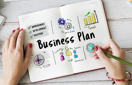 businessperson: Business plan entrepreneur investment diagram