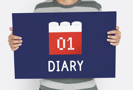 Calendar Agenda Diary Event Planner Stock Photo - 80571806