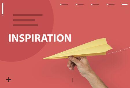 papercraft: Fresh Ideas Creative Inspiration Concept Stock Photo