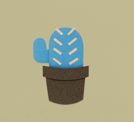 Cactus Plant Flower Icon Illustration Stok Fotoğraf