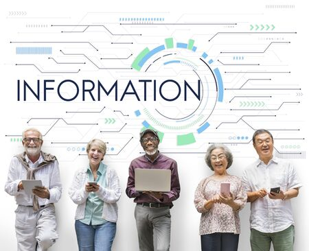 website words: Information Internet Technology Networking Stock Photo