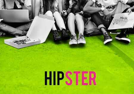 website words: Hipster Freedom Youth Teenager Graphic Word Stock Photo
