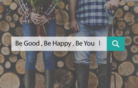Be Happy Good Yourself Love Stok Fotoğraf