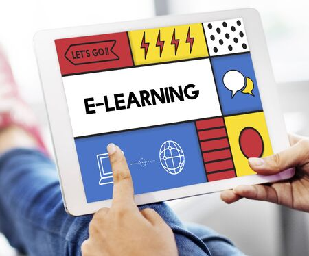 E-learning Education Internet Study Concept Stock Photo