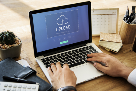 Cloud Network Data Backup Concept Foto de archivo