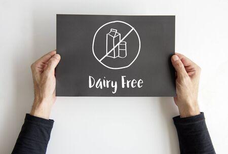乳製品無料健康的なライフ スタイルのコンセプト 写真素材