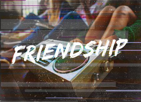 entertaining: Friendship Buddy Companion Together Icon Stock Photo