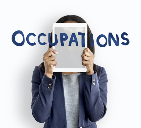 Woman with occupations concept