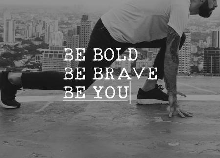 太字する勇敢なことあなたの人生は何をそれをします。 写真素材