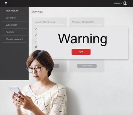 Rechazar cancelar Denegar concepto de advertencia Foto de archivo - 80701014