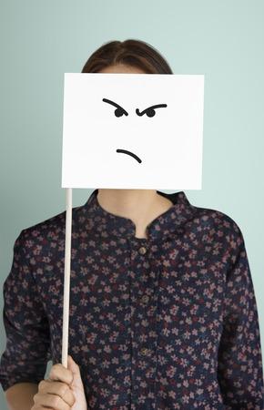 Disegno di espressioni facciali Emozioni Sentimenti Archivio Fotografico - 80753657