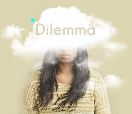 雲隠しジレンマうつ病至福 写真素材 - 80703539