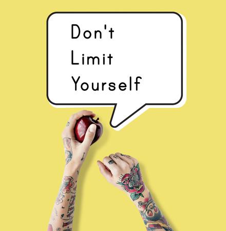 No Limit Yourself Freedom Motivation Success Stok Fotoğraf