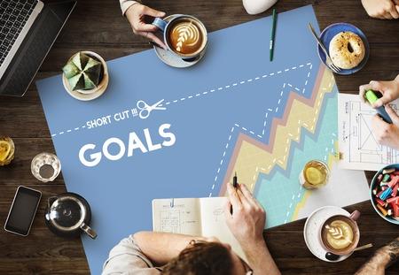 Doelen Hopeful Inspiration Mission Motivation Stockfoto