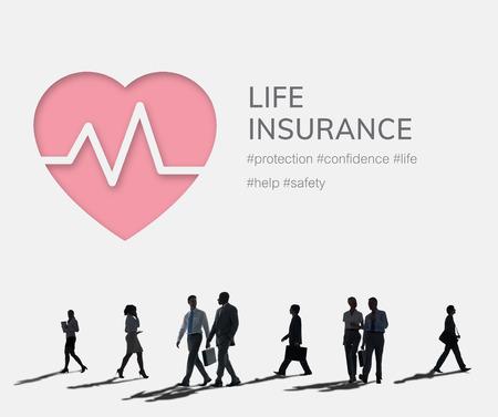 Seguro de salud Beneficios de accidentes de vida Foto de archivo - 80703596