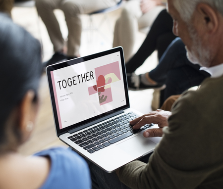 Group of people meeting charity donations campaign Stock Photo