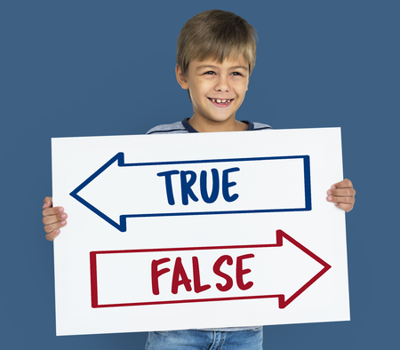 Antonyms - True or False Stock Photo