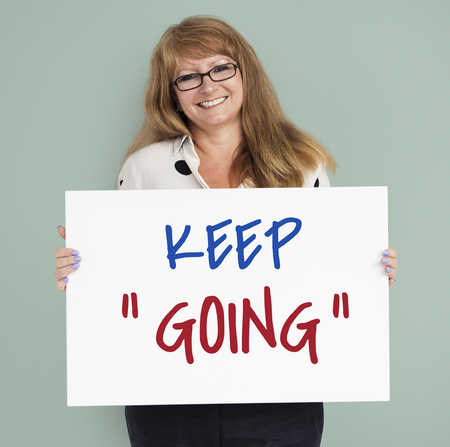 Never Give Up Keep Going Cheer Up Quote Word Stock Photo