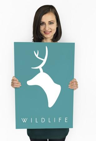 People love wildlife green deer graphic