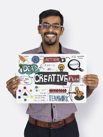 outside the box: Creative Ideas Skill Solution Action Stock Photo