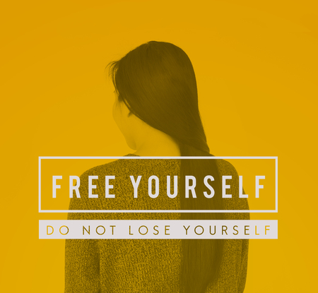 Free yourself phrase text studio people