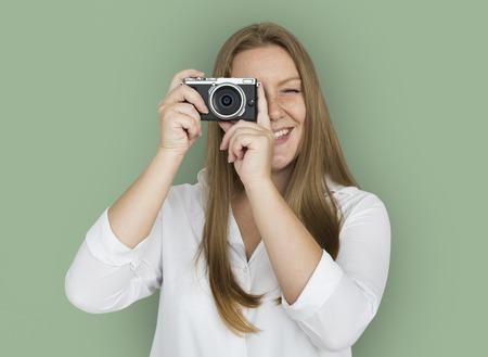 スタジオ名が分離された肖像画を撮影します。 写真素材 - 80754374