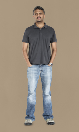 Indian Man Casual Standing Stockfoto