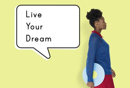 Live Your Dream Action Begin met Start Doen Stockfoto