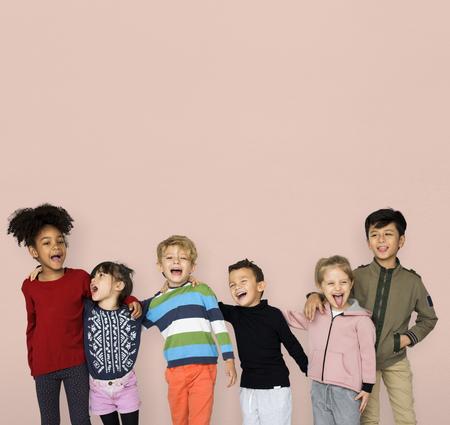 Little Children Together Hangout Smiling