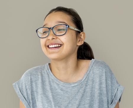 Young Adult Woman Face Smile Expression Studio Portrait Reklamní fotografie