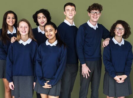 Group of Diverse Students Friendship Together Studio Portrait