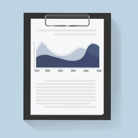Business chart data report information vector Illustration