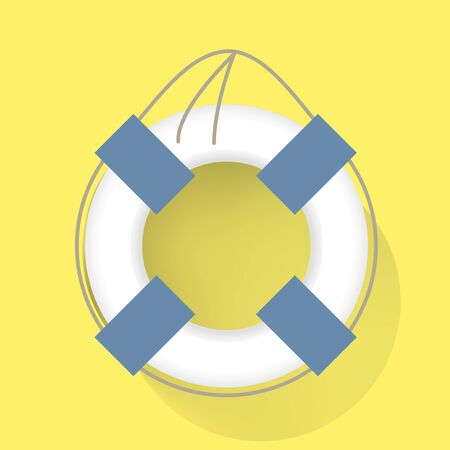 Life Swim Tube Vector Illustration