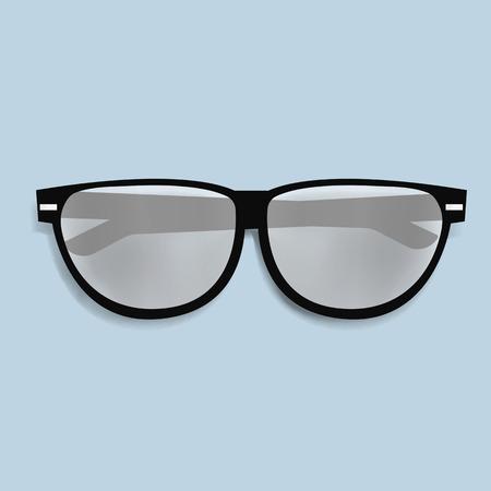 Eyewaer bril vector illustratie pictogram