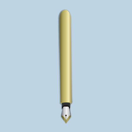 Kalligrafie pen illustratie vector pictogram Stock Illustratie