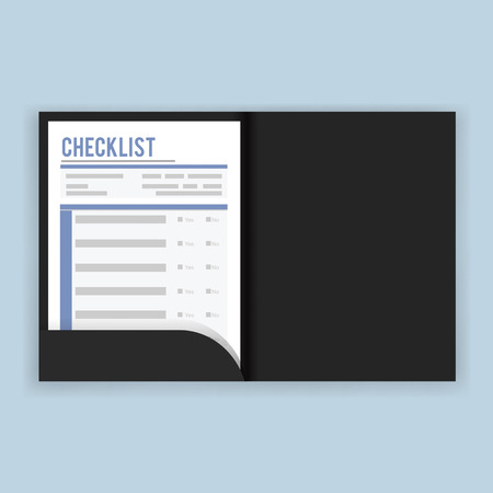 Checklist questionaire survey vector illustration