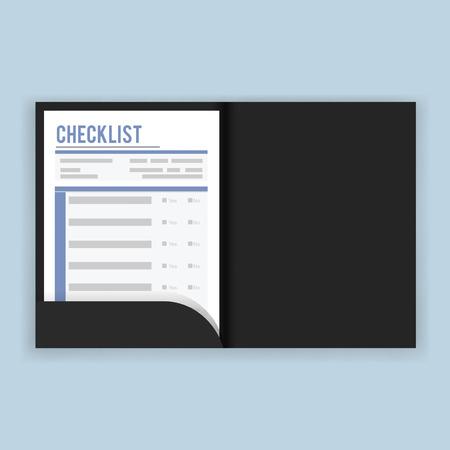Checklist vragenlijst enquête vectorillustratie