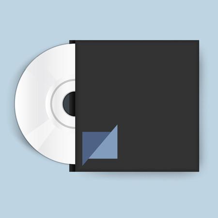 Compact disc vector icon illustration Çizim