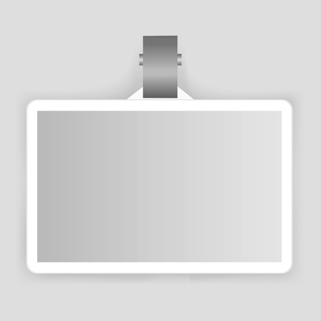 Hanging card cardholder vector 向量圖像
