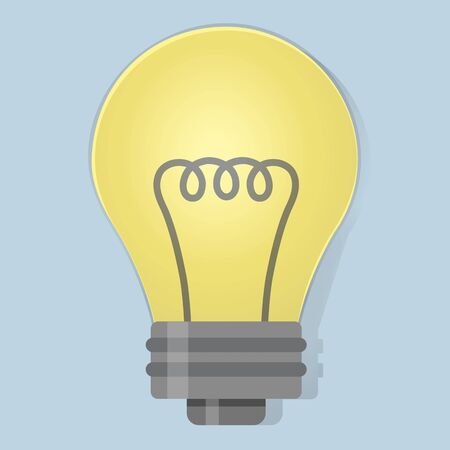 Lightbulb ideas icon illustration vector Ilustração