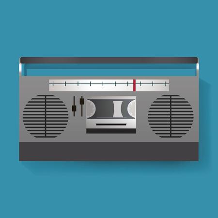 복고풍 라디오 엔터테인먼트 미디어 아이콘 일러스트 벡터 스톡 콘텐츠 - 80780186