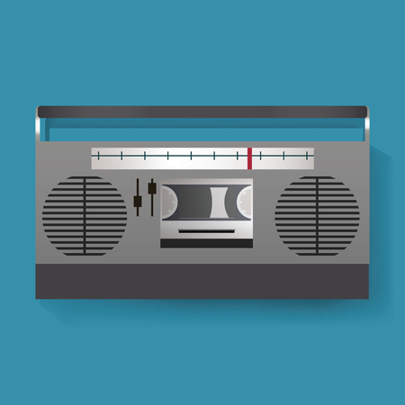 Retro Radio Entertainment Media Icon Illustration Vector