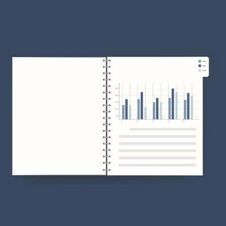 FInancial book statistics illustration vector Illustration