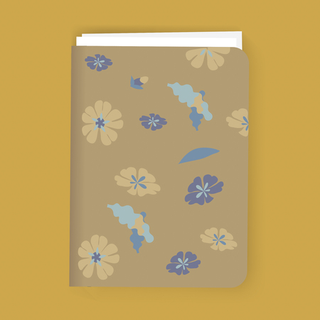 Bloemen Notebook Grafische Illustratie Vector Stock Illustratie
