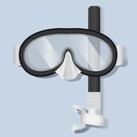 機器のベクトル図をダイビング シュノーケ リングのスキューバ ダイビングのマスク  イラスト・ベクター素材
