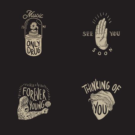 Levensstijl Geniet van Geluk Motivatie Inspiratie Word Grafische Illustratie
