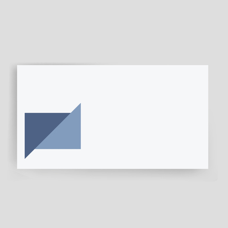 Business card vector illustration information contact