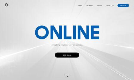 Tecnología en línea Conexión digital a Internet Foto de archivo - 80782630