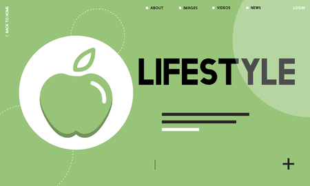 Webpage with lifestyle concept