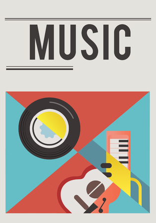 Illustration of music audio passion leisure activity